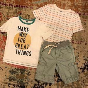 Boys BUNDLED Tees and Shorts Set - 5T